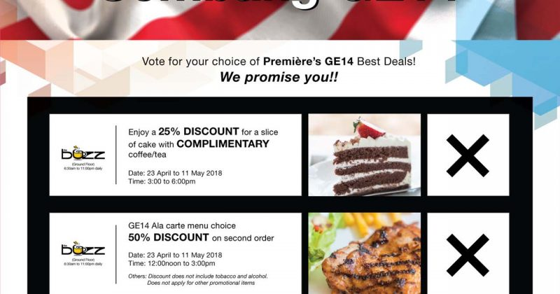 """Sembang GE14"" Enjoy up to 50% discount on your choice of Premiere's GE14 Best Deals!"